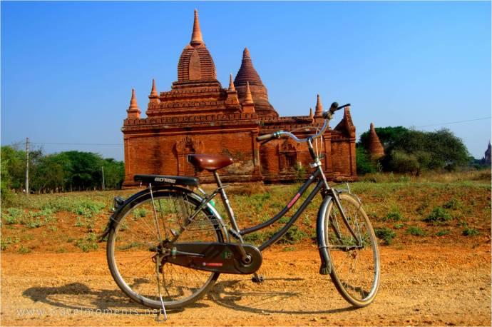 Bike, Bagan, Temples, Myanmar