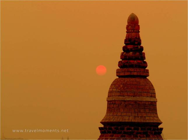 Sunset, Temple, Bagan, Myanmar