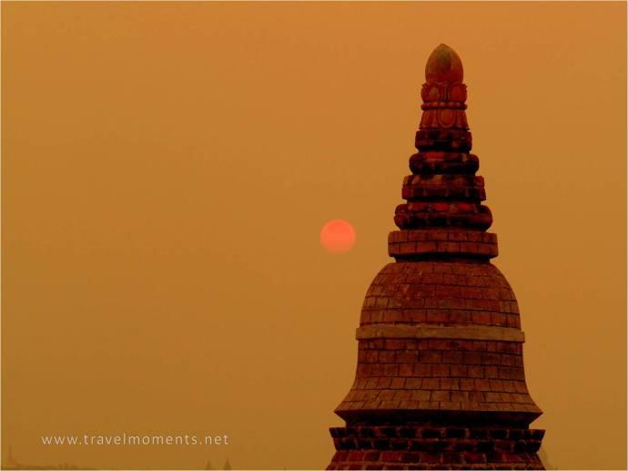 Sunset, Temple, Bagan, Myanmar