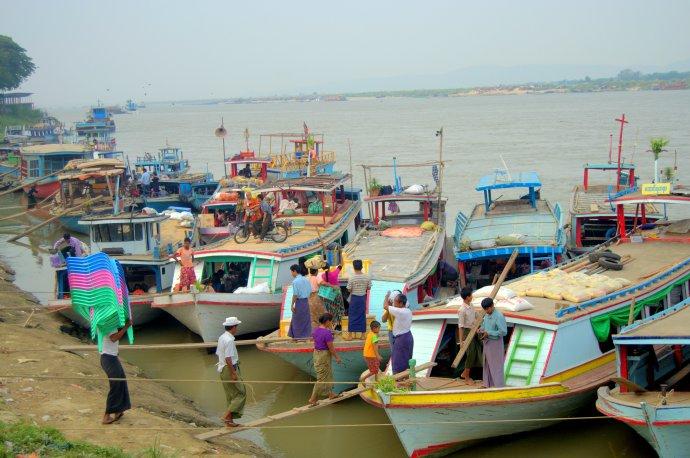 Ayeyarwady River bank