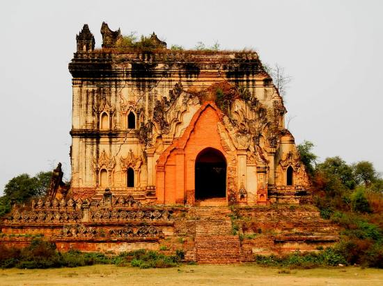 One of the temple ruins in Inwa